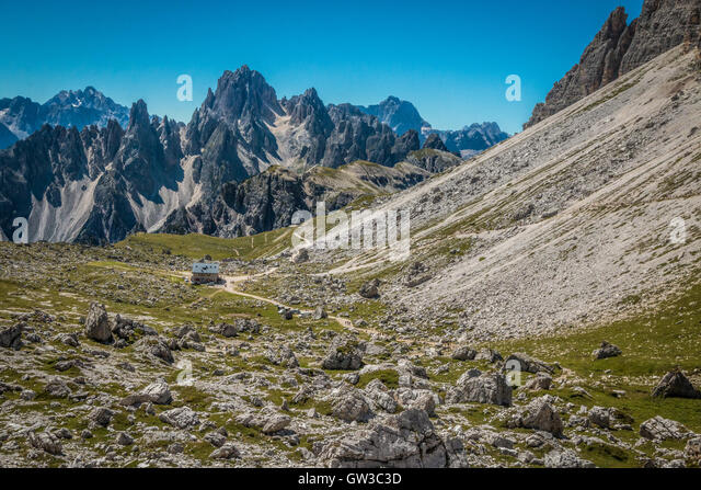 Italian dolomites climbing stock photos italian for Best view of dolomites