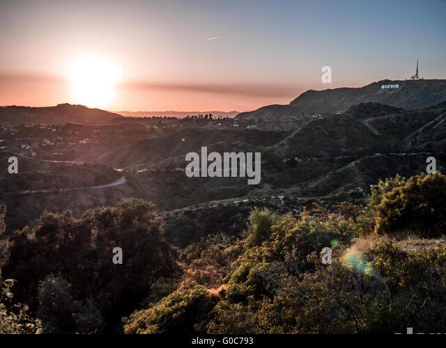 Hollywood Hills Sunset Hollywood Sign Sunset ...
