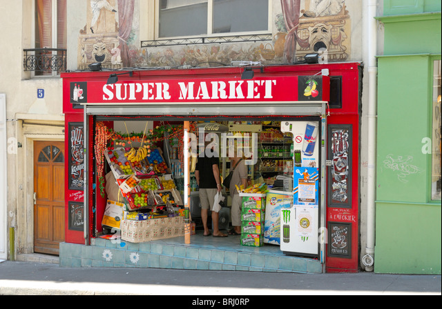 Paris grocery store. - Stock Image & French Grocery Store Paris Stock Photos \u0026 French Grocery Store ...
