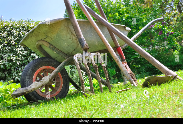 Garden tools ancient stock photos garden tools ancient for Gardening tools for 6 year old