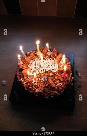 Happy Birthday Chocolate Cake With Candles 56753 | USBDATA