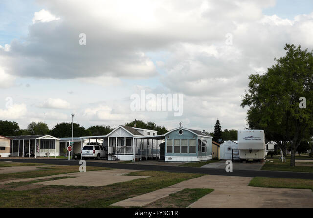 Travel Trailers Fifth Wheels Mobile Homes And Park Models Sit Serenely In A Trailer