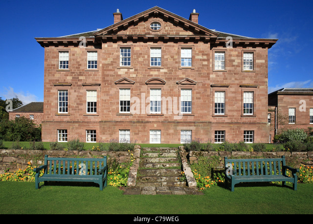 The south facing elevation of Paxton House, an 18h century palladian ...