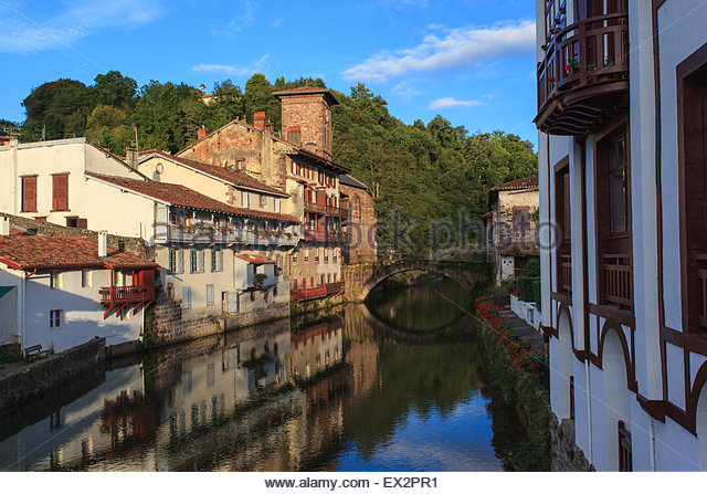 Saint jean pied du port stock photos saint jean pied du port stock images alamy - Hotel saint jean pied de port des pyrenees ...