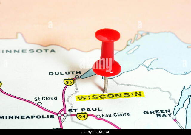 Map Of Wisconsin Photos and Map Of Wisconsin Images Alamy – Wisconsin Travel Map