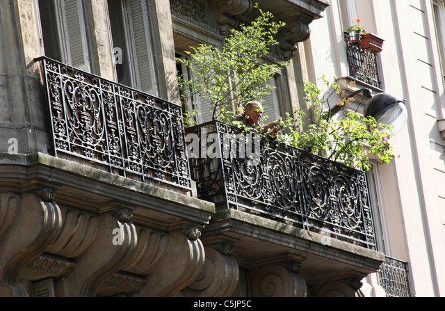 Wrought iron balcony railings stock photos wrought iron for French balcony railing
