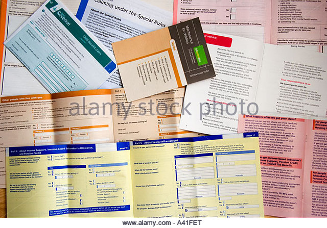 Housing Benefit Forms Stock Photos & Housing Benefit Forms Stock