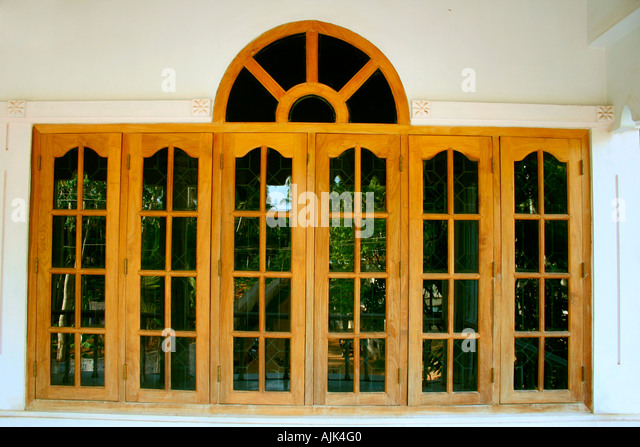 Kerala house architecture stock photos kerala house for Window glass design in kerala