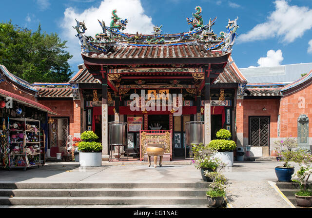 the exterior and entrance of snake temple aka hock kin keong in penang