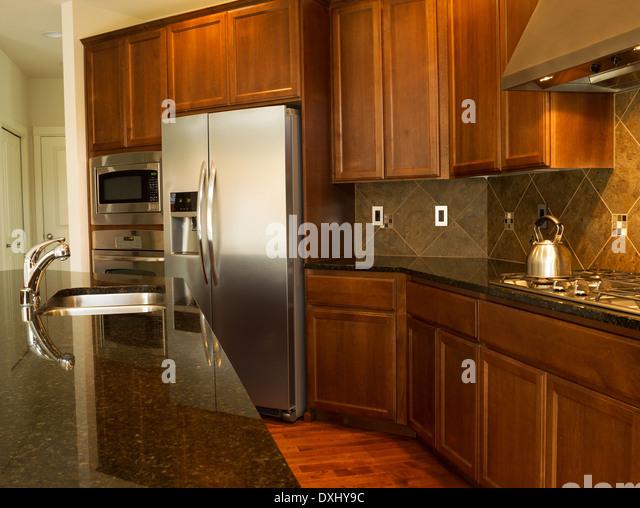 Kitchen Island Close Up granite counter tops stock photos & granite counter tops stock