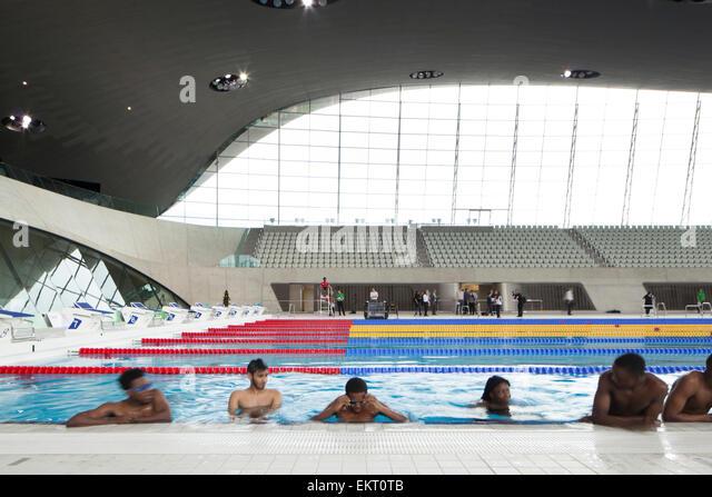 London Aquatics Centre Interior Stock Photos London Aquatics Centre Interior Stock Images Alamy