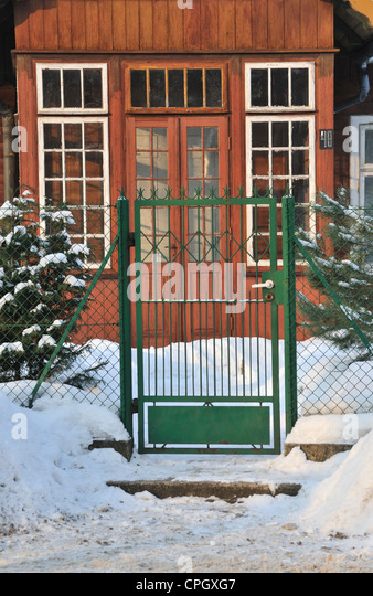 Wooden gates village stock photos wooden gates village stock images alamy - Traditional polish houses wood mastership ...