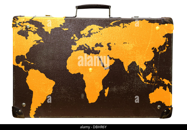 Vintage suitcase stock photos vintage suitcase stock images alamy old suitcase globetrotter with a world map stock image gumiabroncs Choice Image