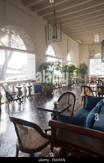 Tables And Chairs At Amangalla Hotel Galle Fort Sri Lanka