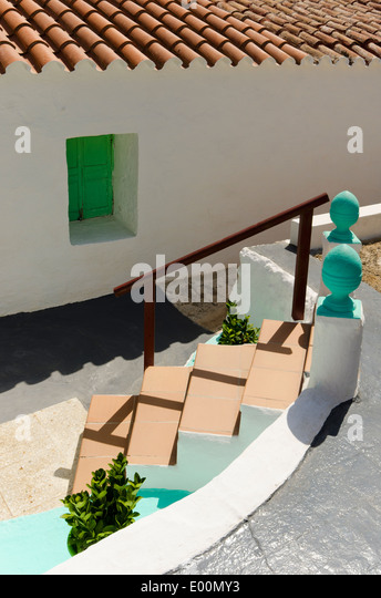 Na Macaret Spain  city photos gallery : Steps down to a holiday villa. Na Macaret, menorca. Stock Image
