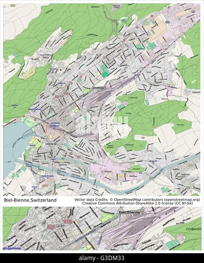 Switzerland Country Physiography Map Stock Photos Switzerland