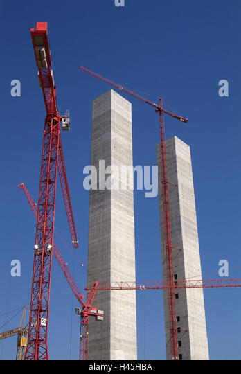 Pillar Concrete Buildings : Cranes concrete stock photos