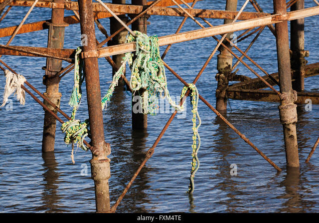 Old fishing pier stock photos old fishing pier stock for Pier fishing net