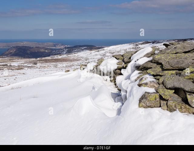 Snow Drift Granite : Snowdrift uk stock photos images alamy