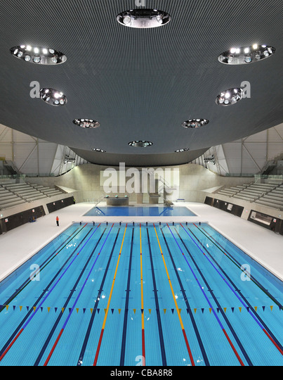 july 2012 london england the swimming and diving arena at olympic village for th