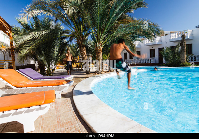 Pool With Natural Stone Side Morocco
