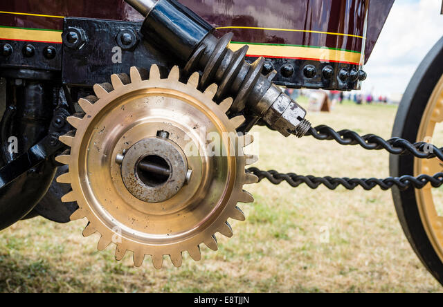 Old Engine Gears : Steering gear stock photos images