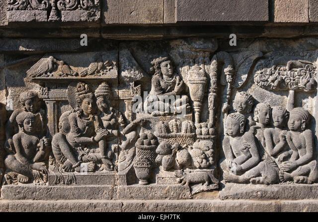 Prambanan carving stock photos