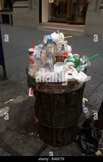 Trash Overflow Stock Photos & Trash Overflow Stock Images ... Overflowing Trash Can