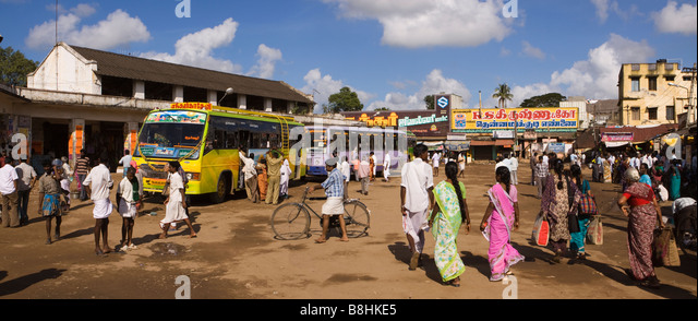 Mayiladuthurai India  city images : India Tamil Nadu Mayiladuthurai Bus Stand passengers boarding local ...