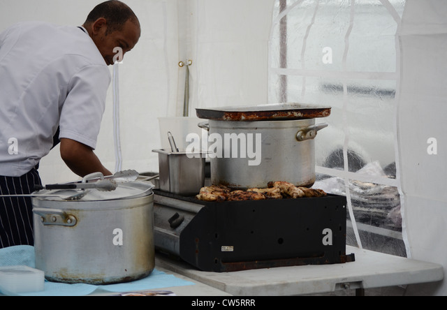 Caribbean street food stock photos caribbean street food for Afro caribbean cuisine