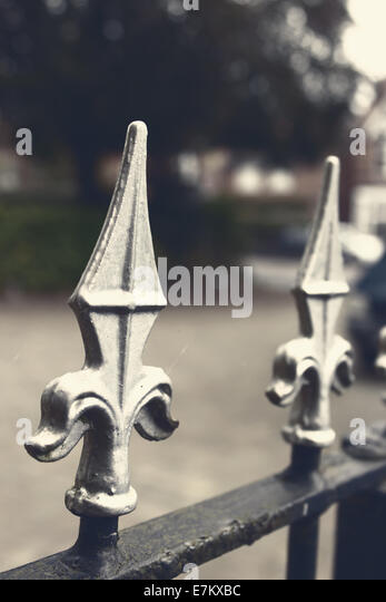 Cast iron fence stock photos