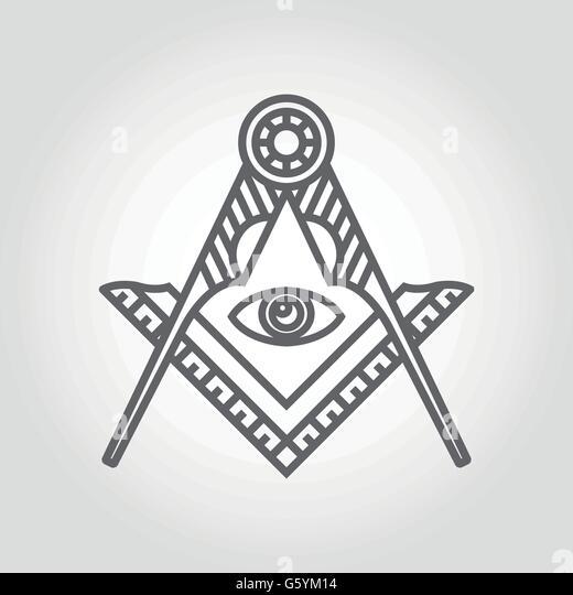 Freemasonry masonic square and compass masonic stock photos freemasonry masonic square and for Freemason vector