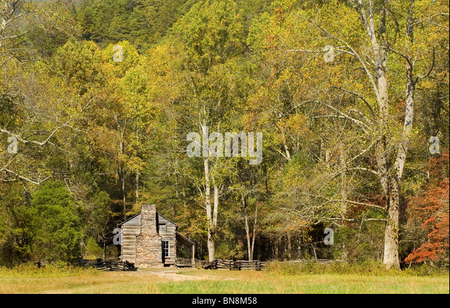 John oliver cabin stock photos john oliver cabin stock for Appalachian mountain cabins