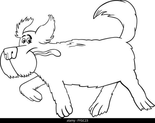 Happy Dog Running Black And White Stock Photos Images