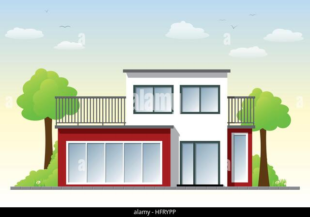 Cube House Stock Vector Images Alamy