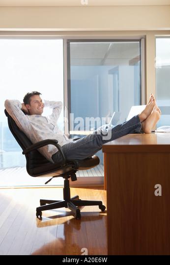 Feet On The Desk Stock Photos Feet On The Desk Stock