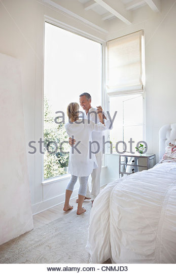 Older couple dancing in bedroom   Stock Image. Couple Dancing In Bedroom Stock Photos   Couple Dancing In Bedroom