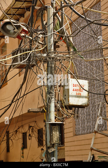Unsafe Electrical Wiring Stock Photos & Unsafe Electrical Wiring ...