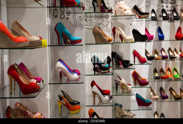High Heels On Display Stock Photos & High Heels On Display Stock ...