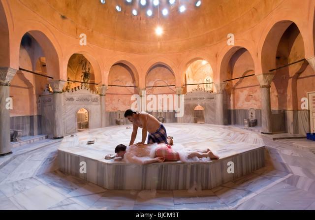 traitional turkish bath or hammam istanbul turkey stock image