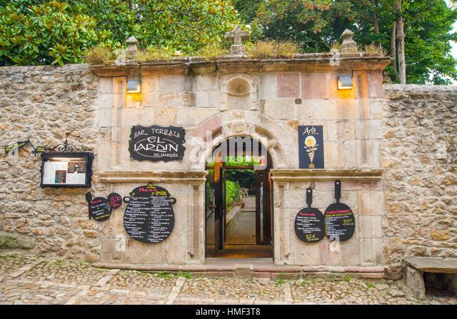Marque facade stock photos marque facade stock images for Posada el jardin santillana del mar