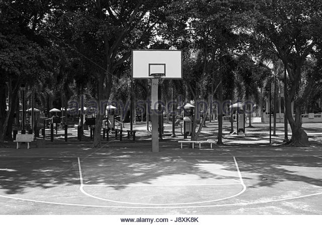 Basketball Court Black and White Stock Photos & Images - Alamy