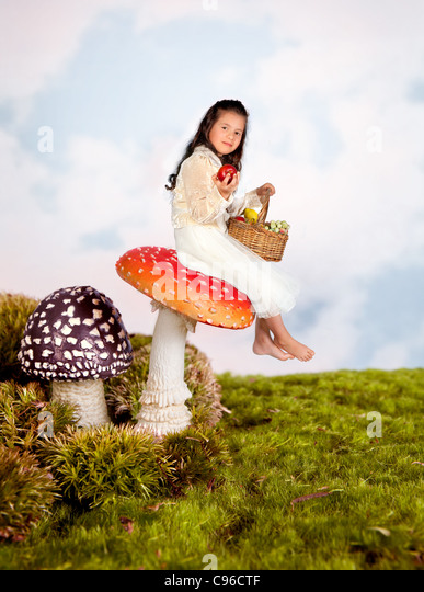 Girl Sitting On Stool Stock Photos Amp Girl Sitting On Stool