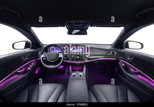 car interior luxury black seats stock photos car interior luxury black seats stock images alamy. Black Bedroom Furniture Sets. Home Design Ideas