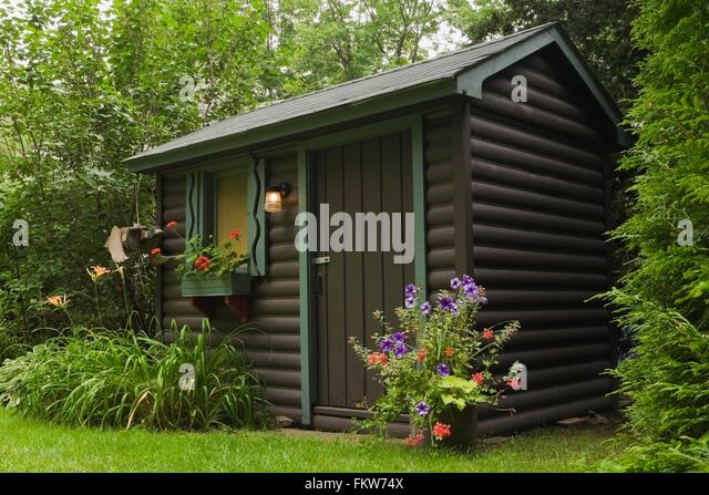 Garden Sheds Painted garden shed window stock photos & garden shed window stock images