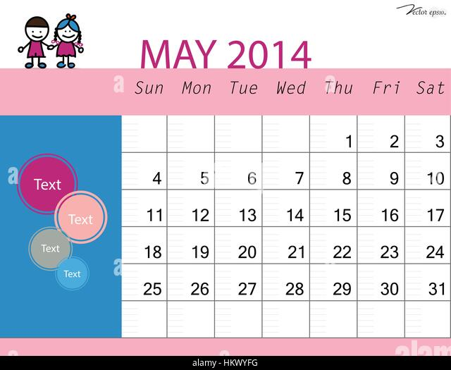 May Calendar Vector : May month vector vectors stock photos