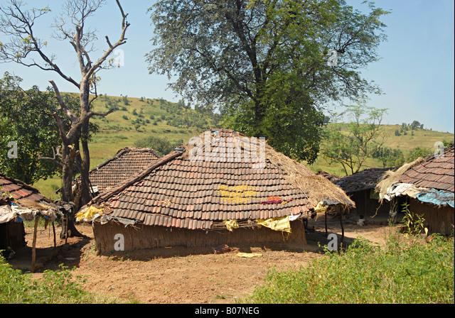 Adivasi tribal stock photos adivasi tribal stock images for Tribal house