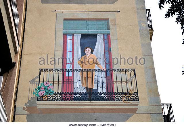 Trompe loeil mural stock photos trompe loeil mural stock - Placa barcelona sant cugat ...