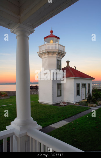 Mukilteo Light Station In Snohomish County North Of Seattle   Stock Image