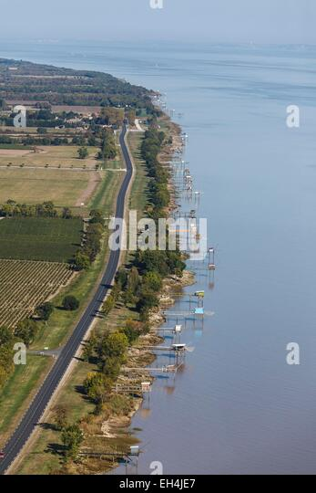 Saint-Estephe (Gironde) France  city images : France, Gironde, Saint Estephe, fisheries on the Gironde river aerial ...